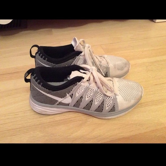 Nike Shoes - Nike flyknit lunar wolf grey 6.5